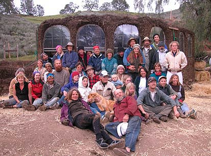Cob building workshop group photo